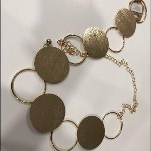 Circular Gold chain belt